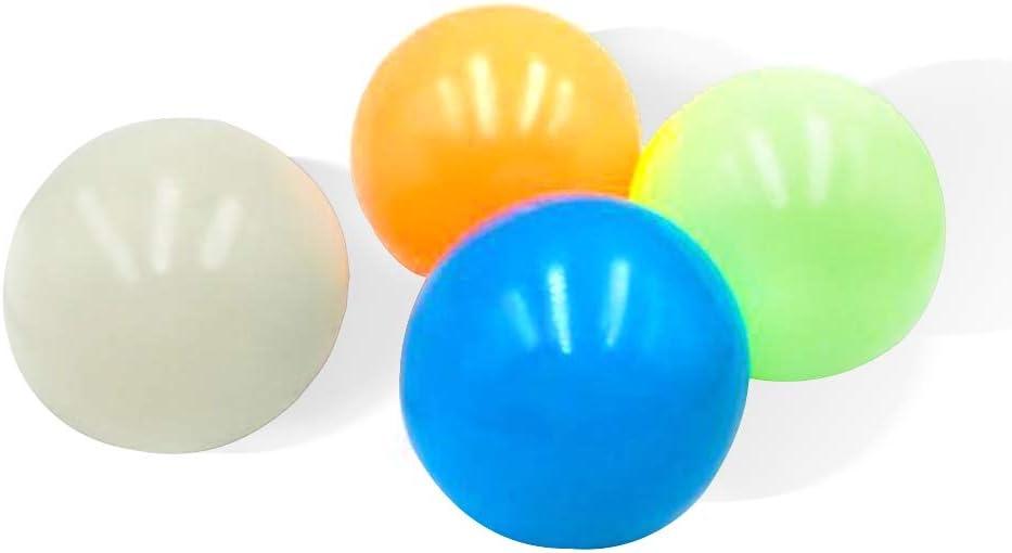 Stressabbau B/älle Halten Sie Sich an das Deckenwanddach BSTiltion 4 St/ück Stressabbau Spielzeug Kinder Erwachsene Klebrige Wandkugeln Spielzeug Zusammendr/ücken Globbles Sticky Balls Zielkugeln
