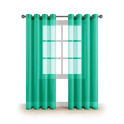 Grommet Semi Sheer Luxury 2 Panels Total Wide 108