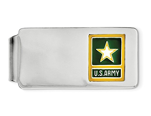 US with Yellow Star Sterling Army Rhodium Clip Plating in Money Silver rqw8rnxfS