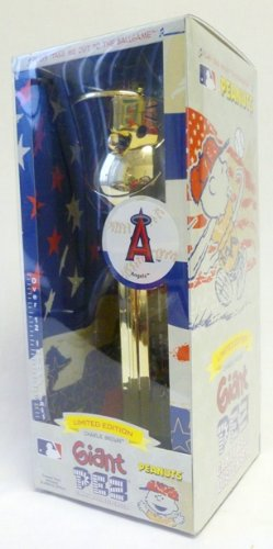 (Gold Plated Charlie Brown Anaheim Angels - Limited Edition Giant Pez Dispenser)