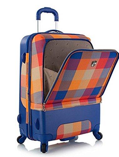 Heys - Hybrid Spinner Chroma Orange/Blau Trolley mit 4 Rollen Klein