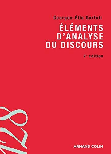 Eléments d'analyse du discours (128) (French Edition)
