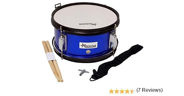 Tambor infantil para niños ROCKSTAR SMD1005-BL color azul metalico - Rockmusic: Amazon.es: Instrumentos musicales