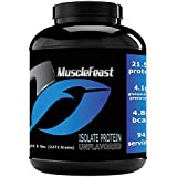 Grass Fed Whey Protein Isolate - by Muscle Feast | All Natural, Lactose Free and Hormone Free | NO Soy, Gluten or GMOs | 4.8g of BCAA's Per Serving (5lb, Unflavored)