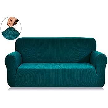 Superbe Chunyi Jacquard Sofa Covers 1 Piece Polyester Spandex Fabric Slipcover (Sofa,  Blue)