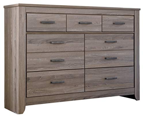 - Ashley Furniture Signature Design - Zelen Dresser - 7 Drawer - Warm Gray