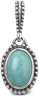 product image for Carolyn Pollack Sterling Silver Peruvian Amazonite Reversible Charm