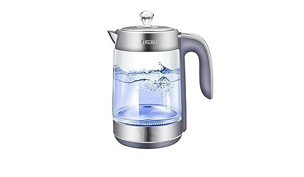 Hervidor Led Luz Azul Borosilicate Vidrio Kettle Eléctrico Té Café Cafetera Auto Apagado: Amazon.es: Hogar