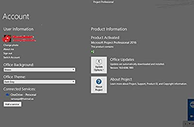 Microsoft Project Professional 2016 Full 1 User lifetime license key PC download