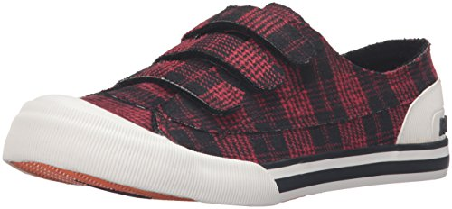 Rocket Dog Women's Jagg Altan Cotton Fashion Sneaker, Red, 7.5 M (Plaid Shoes)