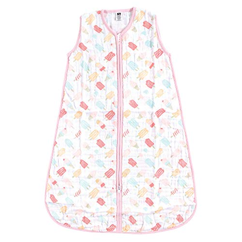 Hudson Baby Unisex Baby Safe Sleep Wearable Muslin Sleeping Bag, Ice Cream 1-Pack, 6-12 Months