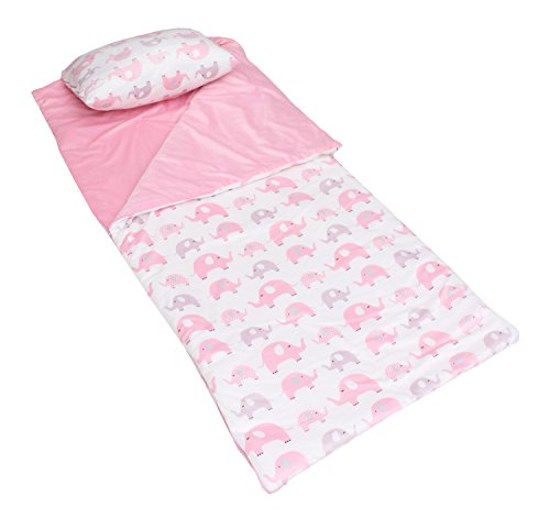 Thro by Marlo Lorenz Sleeping Bag Elephants Juvenile Attached Pillow, (Sleeping Bag With Pillow Attached)