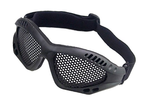 Ourdoor CS Airsoft Tactical Wrie Mesh Goggles Black with Adj
