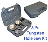 8 PC Tungsten Hole Saw Carbide Ceramic Tiles Cutter