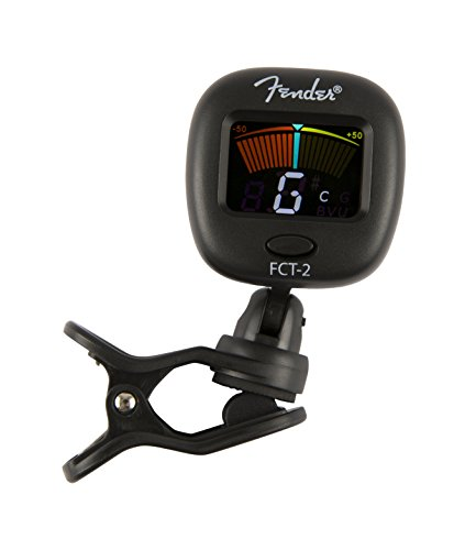 Fender FT-2 Professional Clip on Tuner for Acoustic Guitar, Electric Guitar, Bass, Mandolin, Violin, Ukulele, and -