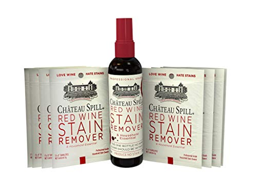 (Chateau Spill Red Wine Stain Remover - 4oz Bottle & 10-Pack of Portable Wipes)