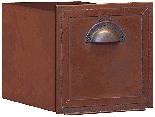 Salsbury Industries 4440 Antique Brass Column Mailbox, Recessed Mounted (Mailbox Insert)
