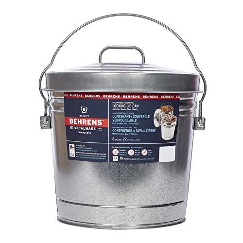 Behrens Galvanized Steel Can