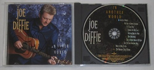 - Joe Diffie In Another World Signed Autographed Country Music Cd Compact Disc Loa