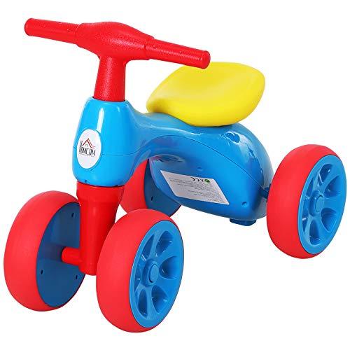 🥇 HOMCOM Bicicleta sin Pedales con Sonido y Mini Almacenamiento 57×33.5×42.5cm 20kg