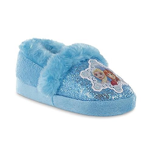 Disney Frozen Slippers (Disney Toddler Girls' Frozen Blue House Slipper (Small 5/6, Blue))