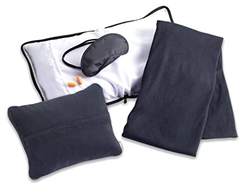 Lewis N. Clark Travel Comfort Set, Black, One Size (Travel Set)