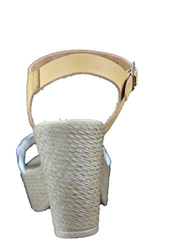 Sandali donna con tacco bianco cuoio made in Italy