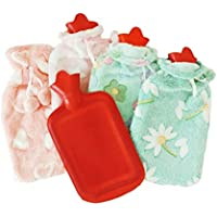 Torix Rubber Hot Water Bag Hand Warmer Warming Bottle Feet Warm Plush Fabric Winter Warming With Cute Cotton cover colorful assorted