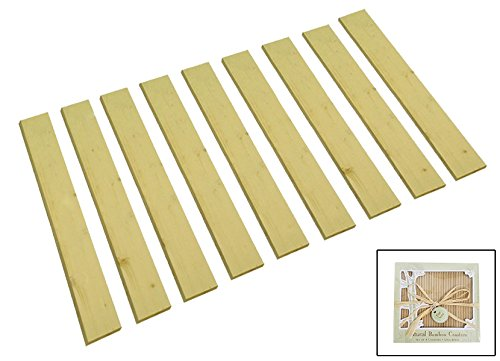 King Size Custom Width Detached Bed Slats - Choose the width you need - Help support your box spring and mattress!FREE set of nightstand coasters included