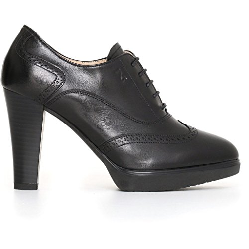 Nero 2018 inverno Giardini pelle scarpe eu donna A719122D francesine nere 36 in rarxq8SwzR