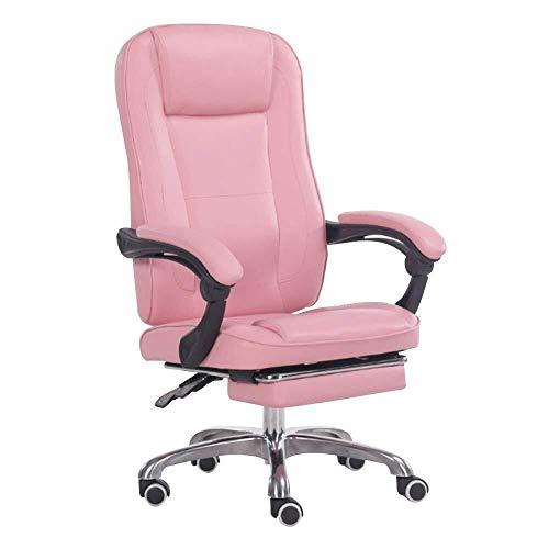 Sillas Gaming Silla Sillones Ordenador comodo sedentario Inicio Juego E-Sports giratoria Levante Jefe Oficina Lazy (Color : Pink)