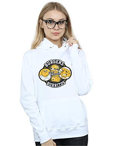 Capucha Dc Titans Blanco Teen Go Comics Mujer Vs Burgers Burritos 87RaU8gqw