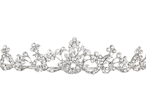 Review Elegant Bridal Floral Rhinestone