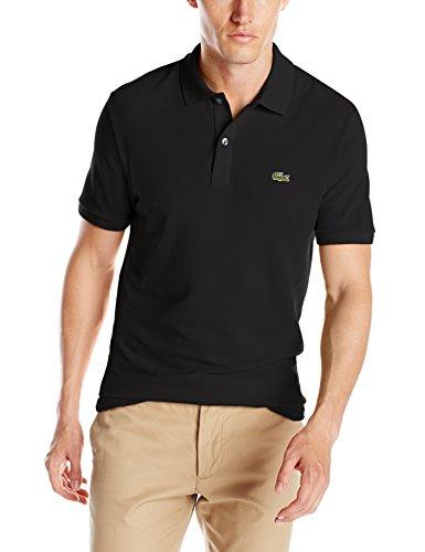 Lacoste+Men%27s+Short+Sleeve+Classic+Pique+Slim+Fit+Polo+Shirt%2C+Black%2C+5