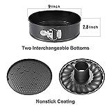 9 Inch Springform Pan and Bundt Pan,Non-stick