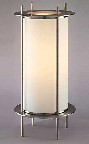 George Kovacs P005-084, Portables Small Glass Table Lamp, 1 Light, Brushed Nickel