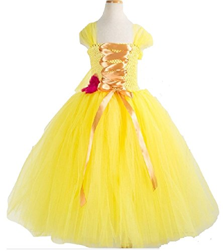 Princess Belle Costume Tutu Dress/Accessories from Chunks of Charm (9, Corset Style)]()