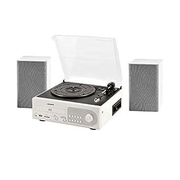New Majestic TT-38 Blanco - Tocadiscos (Blanco, 33,45,78 RPM, Am,FM, MP3,WMA, SD, 3,5 mm)