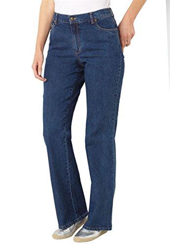 - Woman Within Plus Size Low-Rise Stretch Bootcut Jean - Medium Stonewash, 20 W