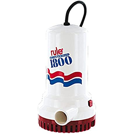 Rule A53S 1800 Submersible Sump Utility Pump With 8 Foot Cord Automatic 110 Volt AC
