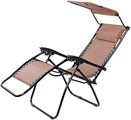 Mueble de jardín/Sillas de jardín Tumbonas en el jardín al Aire Libre Cero Gravedad Silla reclinable Silla reclinable Plegable al Aire Libre Silla Mecedora portátil con Cojines Soportes for 200 kg C: