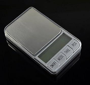 Mini báscula digital LCD portátil de 200 g x 0,01 g con balanza electrónica de diamante para joyería de bolsillo, color gris, escala de pesaje: Amazon.es: ...
