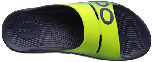 cheap sale marketable OOFOS Unisex OOahh Sport Slide Sandal Navy/Electric Yellow store with big discount cheap high quality sale best store to get cheap sale cost RWklMd