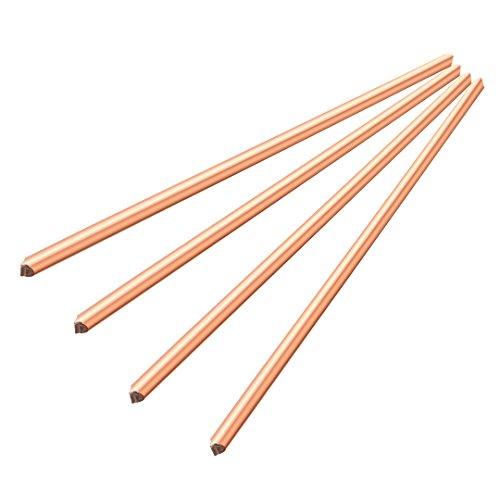 4 Pcs Copper Rod Round Metal Tube Cylinder Bar Tool,200 mm x 6 mm ()