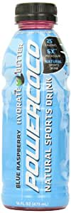 Power Coco Coconut Water Sports Drink,  Blue Raspberry,  16-Ounce (Pack of 12)