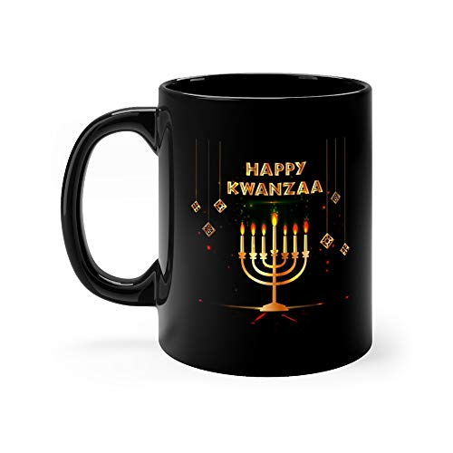 (Kwanzaa With Traditional Colored And Candles Representing The Seven Principles Or Nguzo Saba Coffee Mug Ceramic Cup 11 Oz)