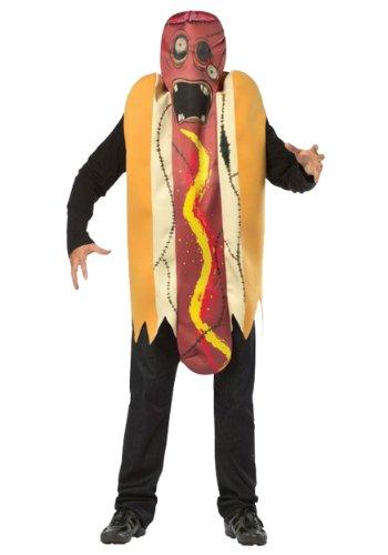 [Rasta Imposta Plus-Size Zombie Hot Dog, Multi, Plus 14-20] (Hot Dog Costume For Adults)