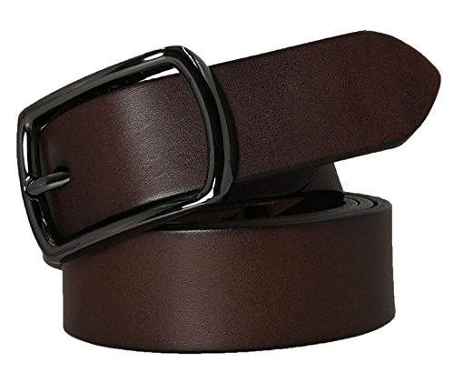 (West Leathers Women's Premium Solid Thick Full Grain Leather Belt - Guaranteed No Break Belts M Style 1)