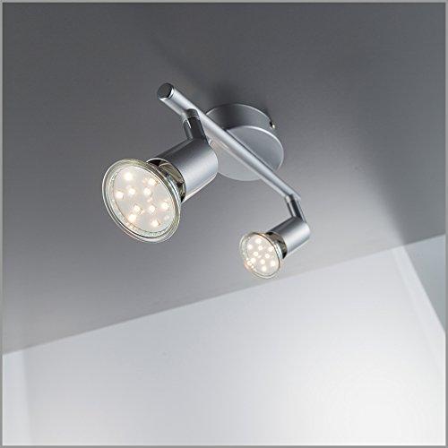 LED Deckenleuchte LED Deckenlampe LED Deckenspot LED Deckenstrahler GU10 warmweiß schwenkbar titanfarbig