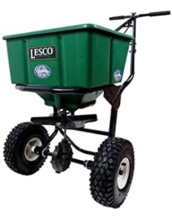 amazon com lesco high wheel fertilizer spreader manual lesco 50lb push spreader
